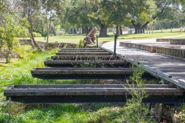 The old boating lake platforms - Yanchep National Park
