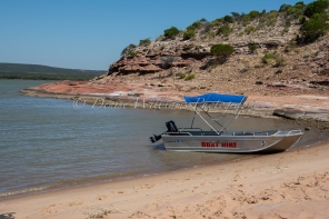 Our boat for the afternoon on the Murchison River, Kalbarri, Western Australia