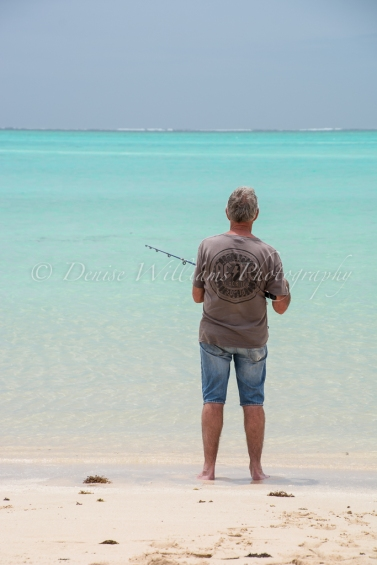 Fishing at idyllic Sandy Bay, nr Exmouth, Western Australia
