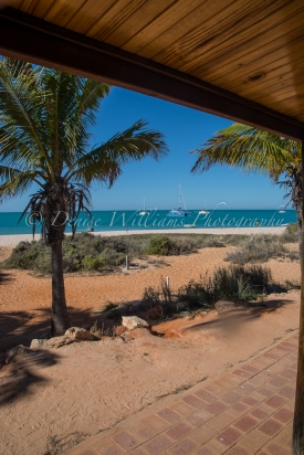 The view from our Beach Room at Monkey Mia, Shark Bay - Western Australia